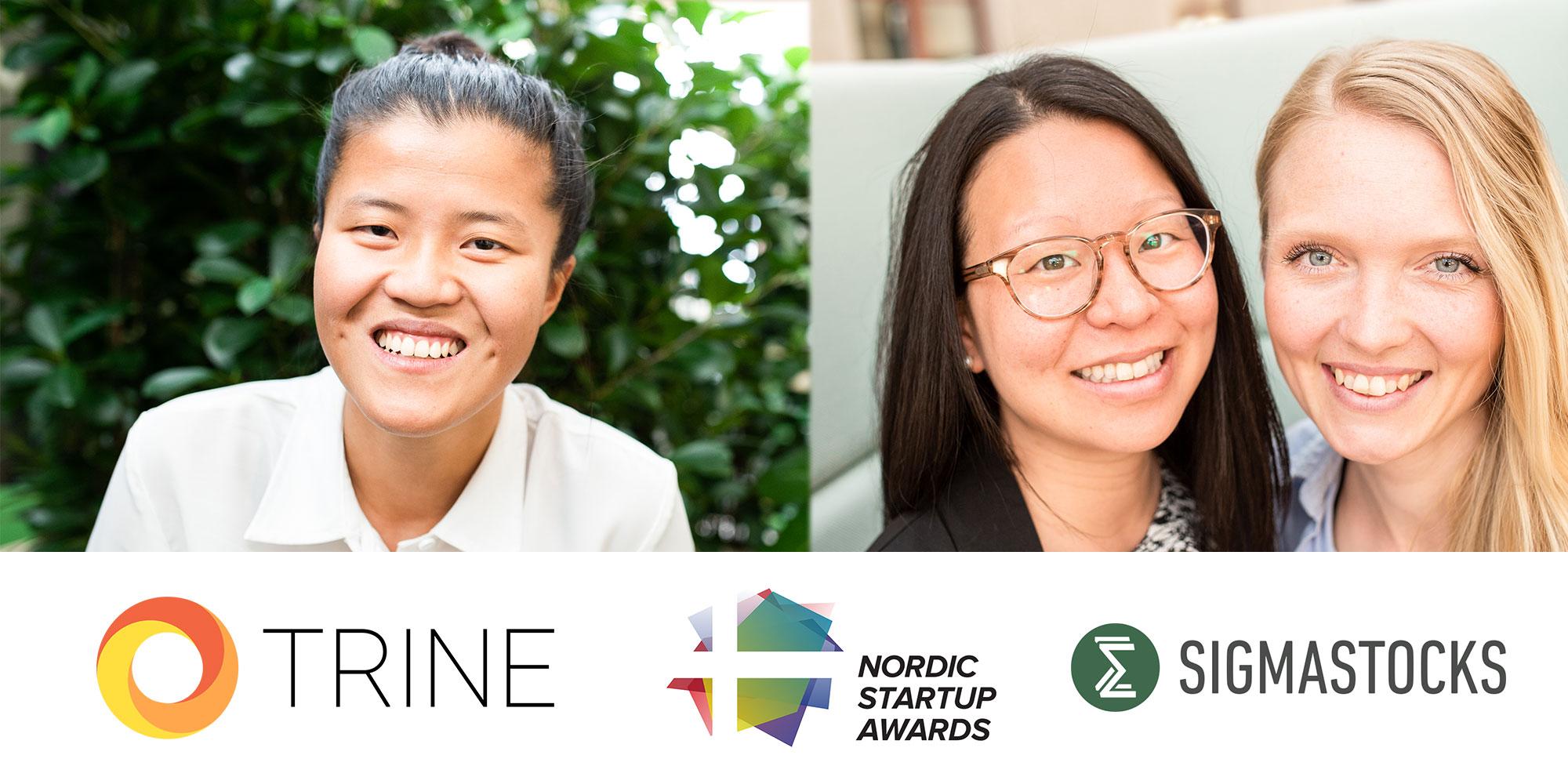 nordic-startup-awards-TRINE-Sigmastocks-Chalmers-Ventures